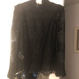 BCBG beautiful high neck lace top! Mint condition